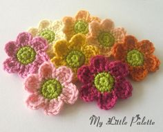 Pure wool Applique 8 pcs  Spring colors1 by Mylittlepalette