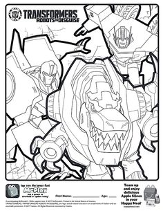 Here Is The Happy Transformers Robots In Disguise Coloring Page Click Picture To See
