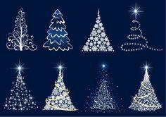 Free Christmas Clip Art | Abstract Christmas Tree Vector Set | Free Vector Graphics | All Free ...