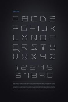 STAPLE FONT DESIGN by Ajeet Mestry, via Behance