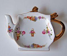 Vintage Porcelain Tea Bag Holder ❤❤❤