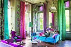 Tricia Guild of Designers Guild Room Colors, House Colors, Colours, Bright Colors, Tricia Guild, Bedroom Turquoise, Designers Guild, My New Room, Bohemian Decor