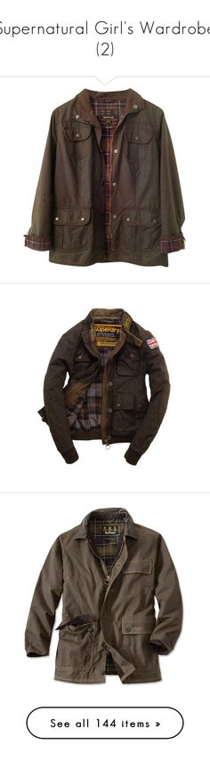 """""""Supernatural Girl's Wardrobe (2)"""" by avril33909 ❤ liked on Polyvore featuring outerwear, jackets, tops, coats, olive, green camo jacket, utilitarian jacket, army green utility jacket, olive green jacket and barbour jacket"""
