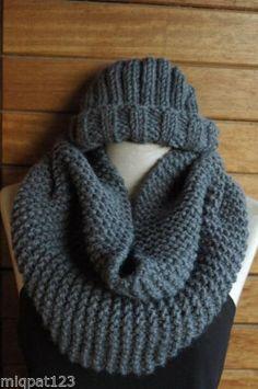 Gorro + Bufanda circular scarf+hat fashion para este invierno in Ropa, Calzado y