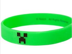 Minecraft Creeper Bracelet. A must add for goodie bags!