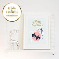 Merry Christmas poster Retro scandinavian poster par BureauMarmoset