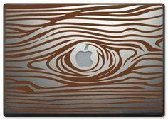 woodgrain laptop decal ... how oxymoronic in a sense