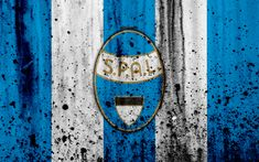 Download wallpapers FC SPAL, 4k, logo, Serie A, stone texture, SPAL, grunge, soccer, football club, SPAL FC