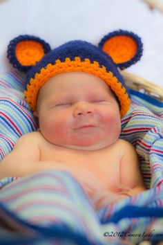 Crochet Chicago Bears Football Hat photography prop 6 to by echats, $17.00