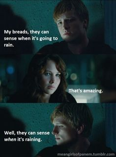 It's like Peeta has ESPN or something #katniss #hungergames #meangirls