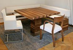 massivholz-esszimmermöbel setting-5-valcucine-sitzbank-bretter ...