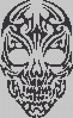 Black Mono Skull