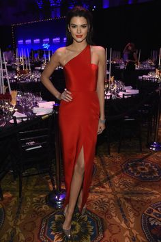 Wearing a Romona Keveza gown and Christian Louboutin heels. - ELLE.com