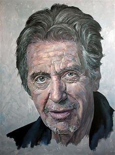 "MENPO, ""Al Pacino"" | Acrylic on Canvas | $23,000 | Source: http://www.art-mine.com/artistpage/menpo.aspx | Agora Gallery | Contemporary Fine Art | NYC, NY."