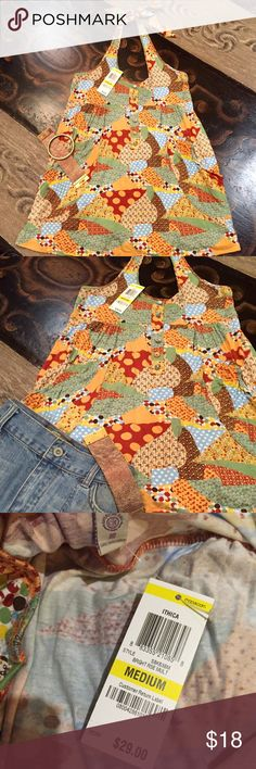 ✂️LAST CALL✂️American Rag Top ties at neck. Adorable American Rag Top ties at neck**NEW with tags**😊Medium this top will be perfect for wall with a jacket & boots American Rag Tops Tank Tops