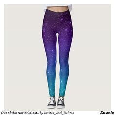 Out of this world Celestial Purple Ombre Leggings Gothic Leggings, Ombre Leggings, Purple Ombre, Out Of This World, Leggings Fashion, Party Hats, Dressmaking, Timeless Fashion, Different Styles