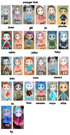 SPOILER ALERT!!! but these are most of the younger kids you can get from HM:AP