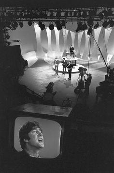 The Beatles at the Sunday dress rehearsal for Ed Sullivan show, Feb. 9, 1964. photo by Bill Eppridge / ©The Estate of Bill Eppridge