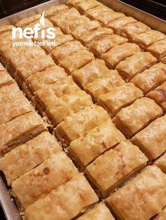 4 Bezeli Kolay Baklava – Nefis Yemek Tarifleri – Kolay yemekler – The Most Practical and Easy Recipes Baklava Recipe, Hot Dog Buns, Apple Pie, Tart, Yummy Food, Delicious Recipes, Bread, Desserts, Spring