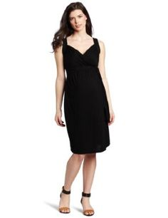 Ripe Maternity Women's Maree Wrap Dress, Black, Medium Ripe Maternity. $50.50