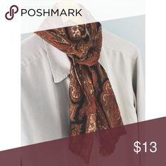 """VINTAGE // Wool Paisley Neck Scarf 51"""" x 11"""" in size. Brand reads Echo. 100% wool. Super cute and versatile. I own two, so I'm selling one. Great paisley pattern. Vintage Accessories Scarves & Wraps"""