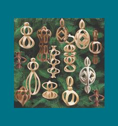 Scroll Saw Patterns :: Holidays :: Christmas :: 3D Ornaments :: Compound cut (3D) ornaments #2 -