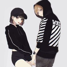Saved by Sheii. Saved by Sheii. Cool Anime Girl, Beautiful Anime Girl, Kawaii Anime Girl, Anime Art Girl, Manga Couple, Anime Love Couple, Anime Couples Drawings, Anime Couples Manga, Anime Cupples