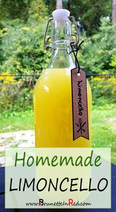 How to make |homemade |Limoncello. Easy! |Limoncello is an |Italian |lemon |liqueur.  #diy #drink #summer #limoncello
