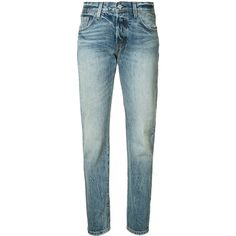 Levi's - straight-leg jeans - women - Cotton - 27 ($158) via Polyvore featuring jeans, blue, levi jeans, straight leg jeans, blue jeans and levi's straight leg jeans