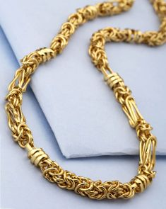 Gold Chains For Men Buy Gold Plated Chain For Men In Stylish Interlink Design Online Also Mens Gold Bracelets, Mens Gold Jewelry, Gold Pendants For Men, Gold Chains For Men, Mens Chains, Gold Chain Design, Golden Jewelry, Luxury Jewelry, Versace Jewelry