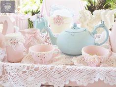 Tea for two ..Luv My Stuff sugar paint pastel colours www.luvmystuff.com,au