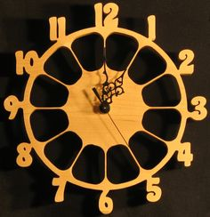 "cool wood Clock | Grateful Dead ""Steal Your Face"" themed clock. Cherry clock face with ..."