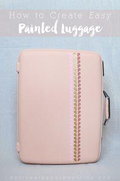 DIY Painted luggage #12monthsofmartha #marthastewartcrafts