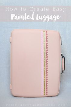DIY Painted luggage #12monthsofmartha #marthastewartcrafts