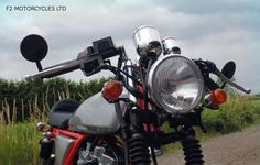 Bar End Mirrors on Ace Special from http://www.f2motorcycles.ltd.uk/