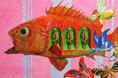 Fish - Surreal painting by Chinese artist Liu Zhi.