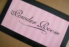Pink POWDER ROOM Primitive Country Shabby BATH by carolalden