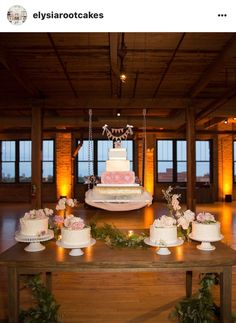 A suspended cake display designed by Elysia Root Cakes in Chicago.