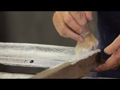 Learn how to create a lime-oaked look with white Chalk Paint® Wax with Annie Sloan