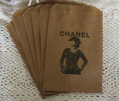 Kraft Favor Bags Coco Chanel Chanel Inspired by asweetlittlenote, $6.90