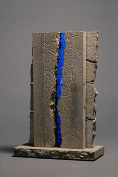 Blue-Crevase Sculpture by Terence Dubreuil of Paradoxart. www.paradoxartstudio.etsy.com