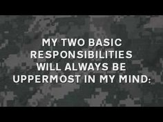 The NCO Creed - A video to help Soldiers memorize the Creed of the Noncommissioned Officer.