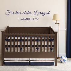 BATTOO Bible Wall Decal 1 Samuel 1: 27 - For This Child I Prayed Vinyl Wall…