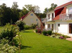 Liebevoll angelegter Garten der Usedom Ferienwohungen