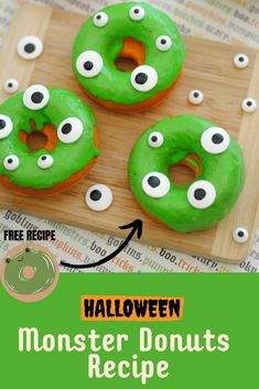 Are you looking for some spooky and delicious Halloween food for kids? We've got these yummy Monster Donut Recipe that you should add to your favorite Halloweend food list. It is an easy recipe that you can make in less than an hour for a dozen, plus decorating it with is an fantastic activity for the whole family. Making your Halloween food has never been this fun and saves you money. Find out more about this recipe at The Inspiration Edit. Kids Birthday Snacks, Kids Party Snacks, Halloween Donuts, Halloween Treats, Halloween 2020, Disney Cupcakes, Disney Cookies, Disney Party Foods, Mickey Mouse Food