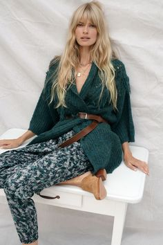 Stevie Fringed Knit Kimono | Anthropologie Velvet Bow Tie, Fall Accessories, Leather Accessories, Wool Scarf, Dress Brands, Boho Chic, Joggers, Anthropologie, Autumn Fashion