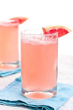 Grapefruit Mimosas are perfect to sip on for an Easter or Mother's Day brunch!