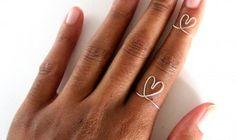 Adjustable Sterling Silver Heart Rings