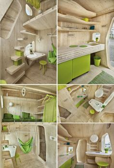 Ons bou so ding var vakansie hou êrens. Tyni House, Dome House, Green Design, Pallet House, Tiny Spaces, Tiny House Plans, Tiny House Design, Tiny Living, Home Decor Furniture