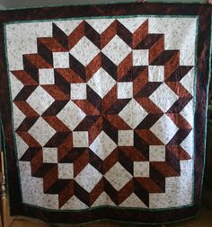 carpenter star quilt pattern free | This quilt looks stunning and is easy to make because there are no ...
